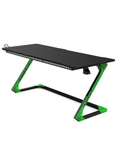 Xrocg Gaming Gator M-172 Yeşil-Siyah Oyuncu Masası Siyah